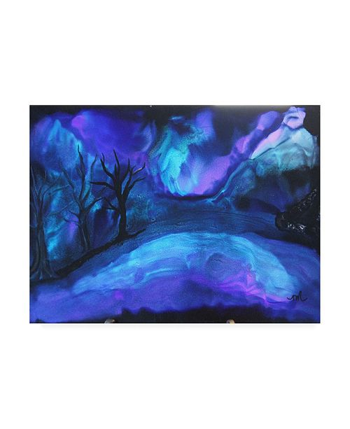 "Trademark Global Michelle Mccullough Aroura Lake Canvas Art - 20"" x 25"""