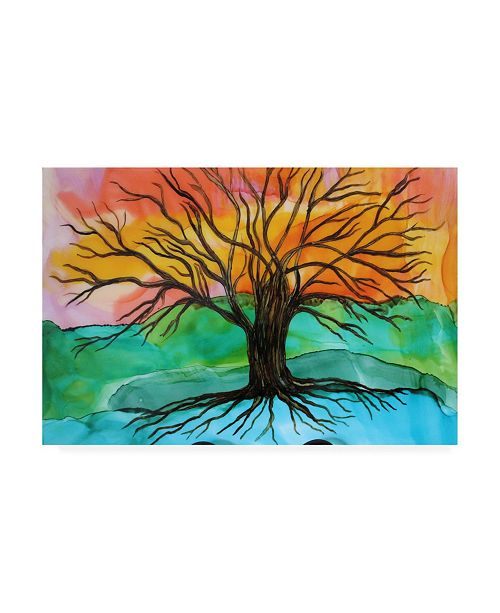 "Trademark Global Michelle Mccullough Tree of Joy Canvas Art - 15"" x 20"""
