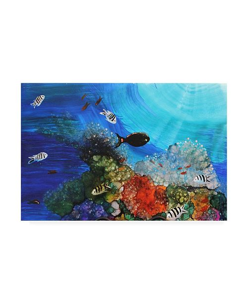 "Trademark Global Michelle Mccullough Under the Sea Fish Canvas Art - 37"" x 49"""