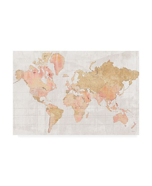 """Trademark Global Sue Schlabach Across the World V5 Champagne Canvas Art - 20"""" x 25"""""""