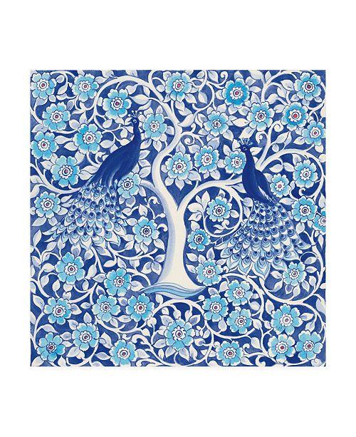 """Trademark Global Miranda Thomas Peacock Garden VII Canvas Art - 15"""" x 20"""""""