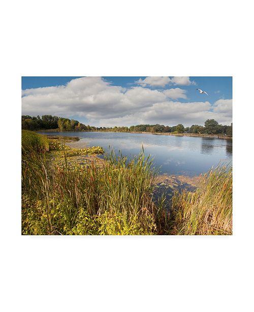 "Trademark Global Monte Nagler Hopkins Lake Owosso Mi Canvas Art - 37"" x 49"""