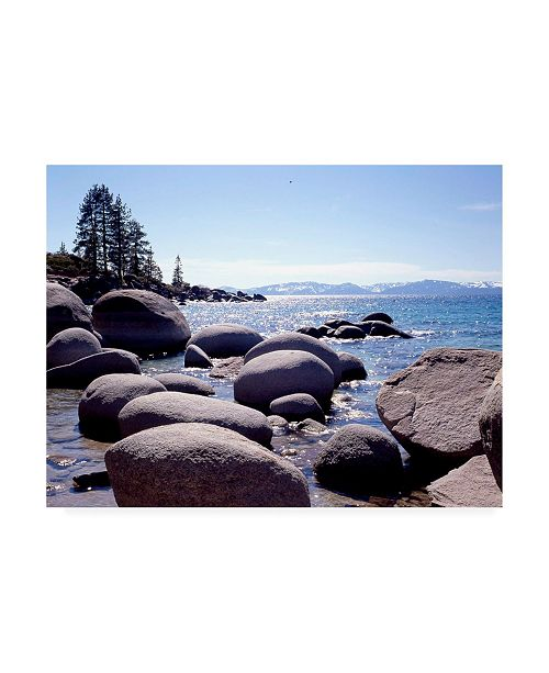"Trademark Global Monte Nagler Sand Harbor Beach Lake Tahoe Nevada Canvas Art - 37"" x 49"""
