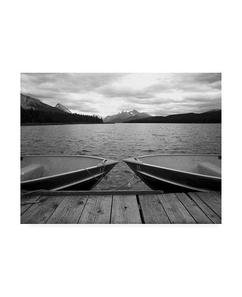 "Trademark Global Monte Nagler Two Boats at Lake Maligne Canadian Rockies Canvas Art - 15"" x 20"""