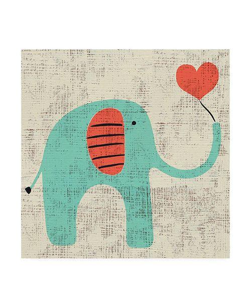 "Trademark Global Chariklia Zarris Adas Elephant Canvas Art - 27"" x 33"""