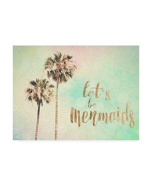 "Trademark Global Sylvia Coomes Lets Be Mermaids Canvas Art - 20"" x 25"""