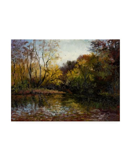 """Trademark Global Mary Jean Weber Bend in the River at Morrow Canvas Art - 20"""" x 25"""""""