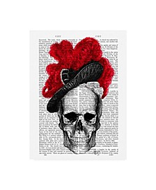 """Fab Funky Skull with Red Hat Canvas Art - 36.5"""" x 48"""""""