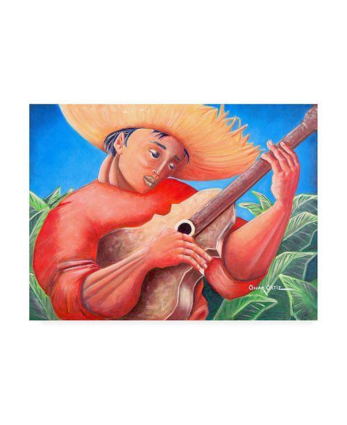 "Trademark Global Oscar Ortiz Musicians Guitar 4 Canvas Art - 36.5"" x 48"""