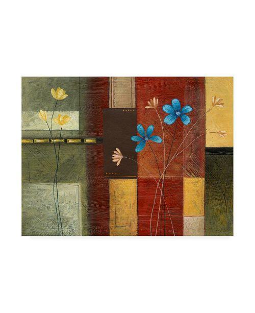 "Trademark Global Pablo Esteban Yellow Left, Blue Right Canvas Art - 36.5"" x 48"""