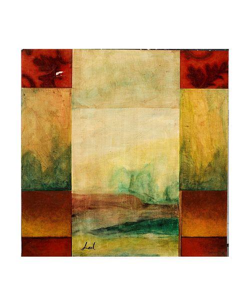 "Trademark Global Pablo Esteban Watercolor Landscape Panels 1 Canvas Art - 36.5"" x 48"""