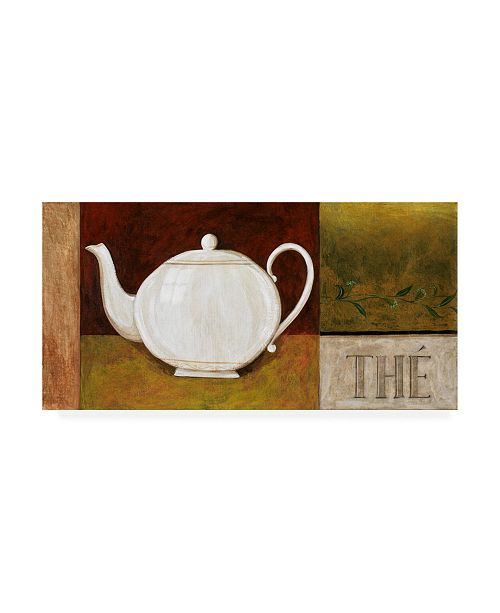 "Trademark Global Pablo Esteban White Teapot the Canvas Art - 36.5"" x 48"""