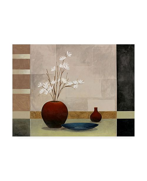 "Trademark Global Pablo Esteban Tall Branch Flowers in Red 2 Canvas Art - 19.5"" x 26"""