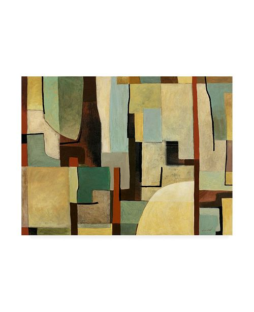"Trademark Global Pablo Esteban Abstract Shapes 1 Canvas Art - 15.5"" x 21"""