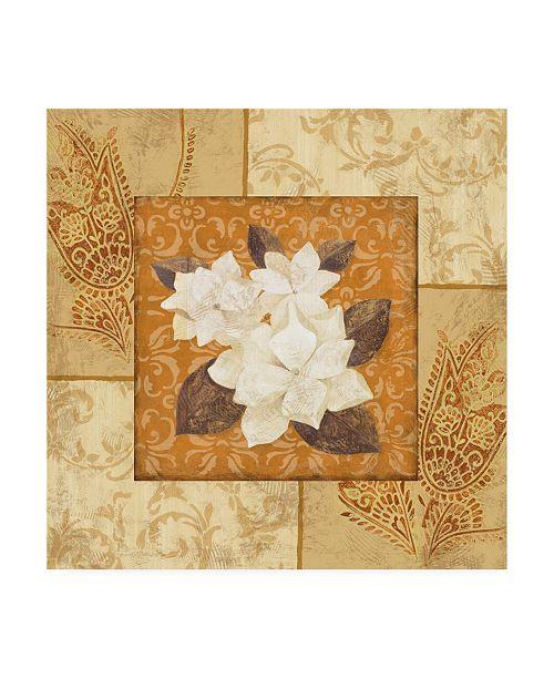 "Trademark Global Pablo Esteban Magnolia 2 Beige Canvas Art - 19.5"" x 26"""