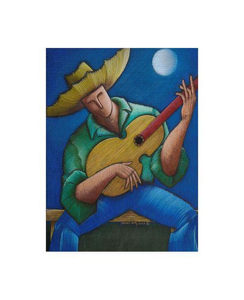 "Trademark Global Oscar Ortiz Jibaro Bajo La Luna Canvas Art - 15.5"" x 21"""
