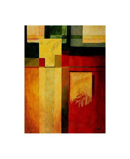 "Trademark Global Pablo Esteban Bold Gematric Panels 1 Canvas Art - 15.5"" x 21"""