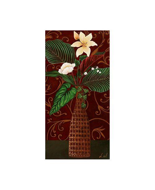 "Trademark Global Pablo Esteban Wicker Vase Over Red 2 Canvas Art - 27"" x 33.5"""