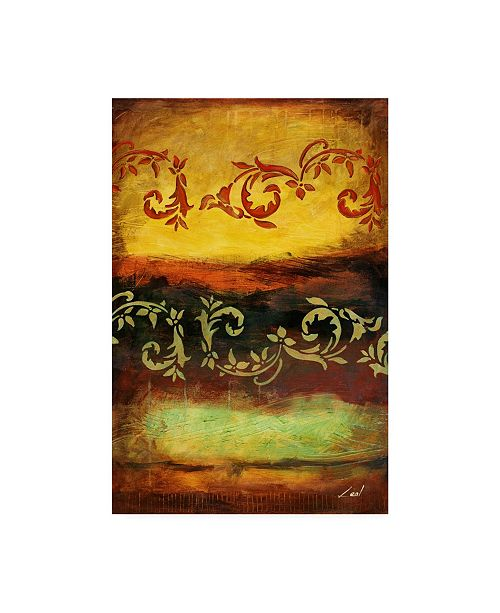 "Trademark Global Pablo Esteban Yellow Red Wave Pattern 5 Canvas Art - 15.5"" x 21"""