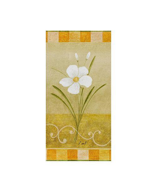 "Trademark Global Pablo Esteban White Floral Yellow 4 Canvas Art - 15.5"" x 21"""
