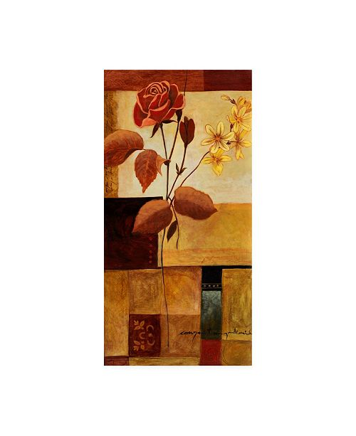 "Trademark Global Pablo Esteban Red Rose Bold 2 Canvas Art - 27"" x 33.5"""