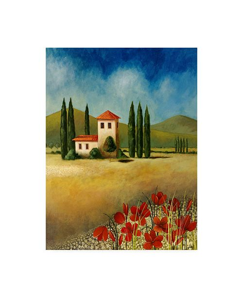 "Trademark Global Pablo Esteban Tuscan Landscape 1 Canvas Art - 27"" x 33.5"""