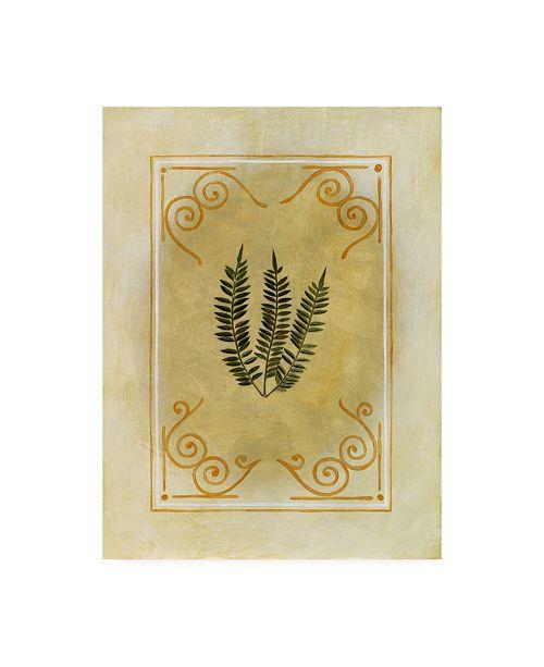 "Trademark Global Pablo Esteban Fern Leaf Framed 7 Canvas Art - 15.5"" x 21"""