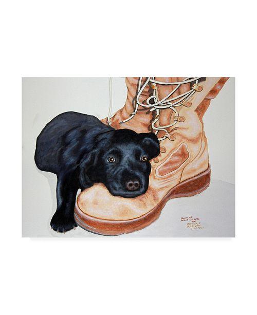 "Trademark Global Patrick Sullivan Gunner Canvas Art - 15.5"" x 21"""