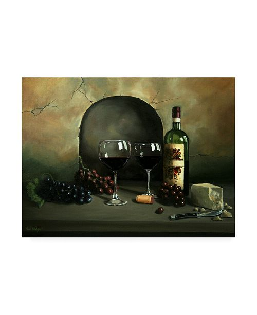 "Trademark Global Paul Walsh Wine For Two Rocky Canvas Art - 27"" x 33.5"""