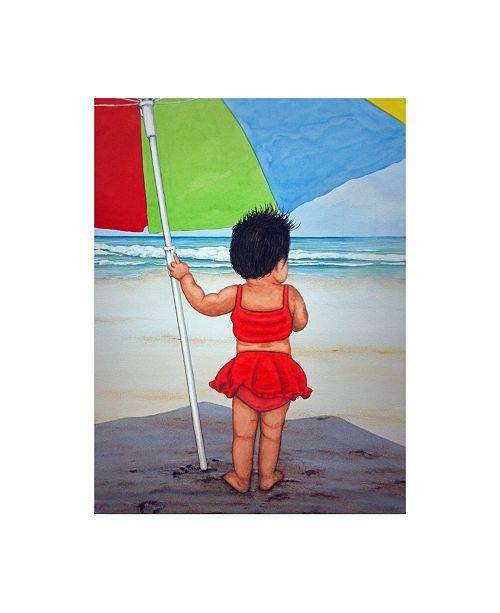 "Trademark Global Patrick Sullivan Beach Baby K Canvas Art - 15.5"" x 21"""