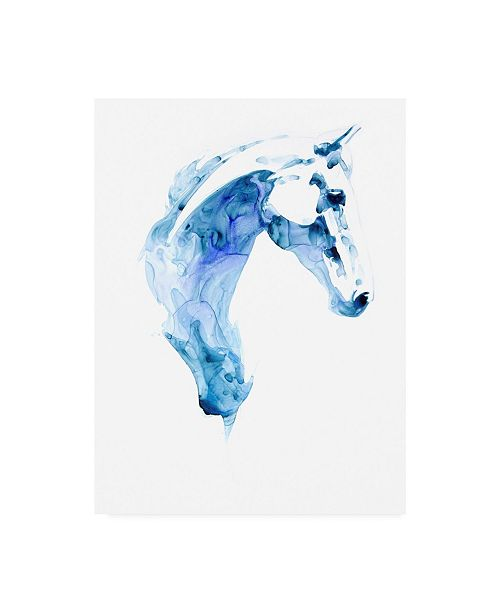 "Trademark Global Julie T. Chapman Blue Agate I Canvas Art - 36.5"" x 48"""