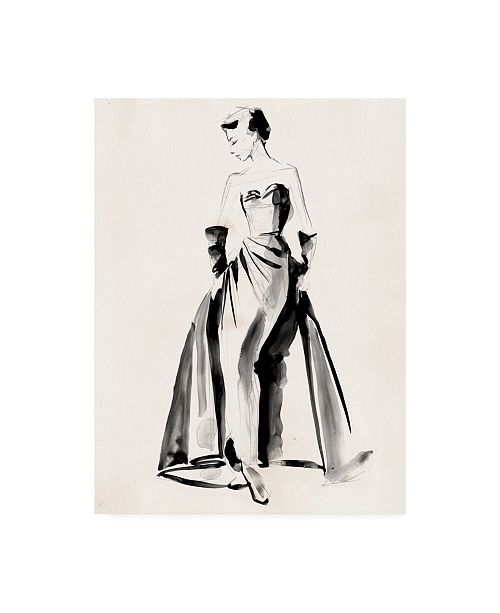 "Trademark Global Jennifer Paxton Parker Vintage Costume Sketch I Canvas Art - 36.5"" x 48"""