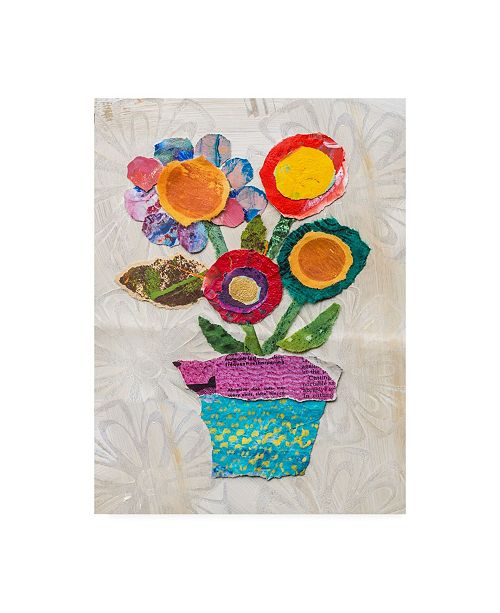 "Trademark Global Elizabeth St. Hilaire Flower Pot I Canvas Art - 19.5"" x 26"""