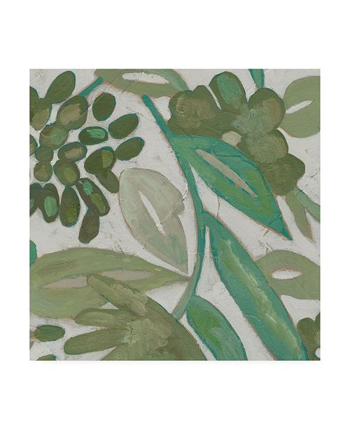 "Trademark Global Chariklia Zarris Greenery IV Canvas Art - 15.5"" x 21"""