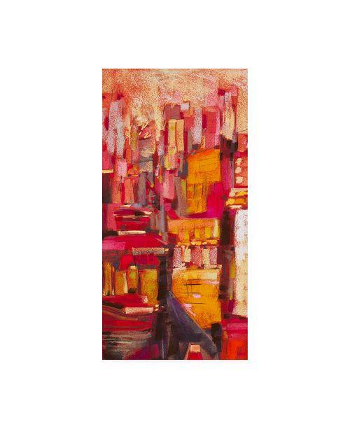 "Trademark Global Jennifer Gardner Pink City Sunrise I Canvas Art - 36.5"" x 48"""