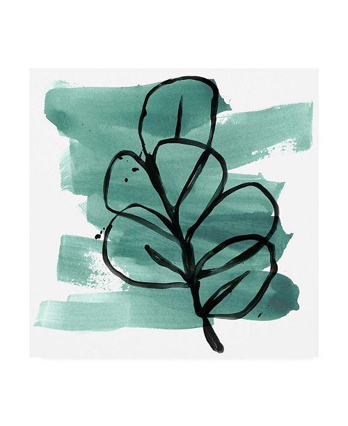 "Trademark Global June Erica Vess Tropical Sumi E V Canvas Art - 36.5"" x 48"""