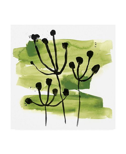 "Trademark Global June Erica Vess Tropical Sumi E VIII Canvas Art - 15.5"" x 21"""