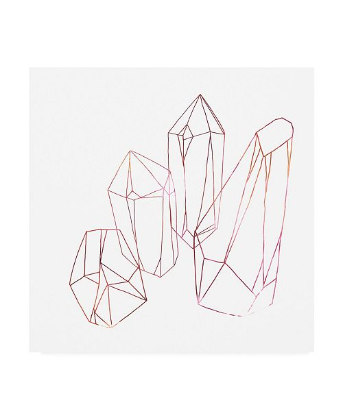 """Trademark Global June Erica Vess Contour Crystals III Canvas Art - 36.5"""" x 48"""""""