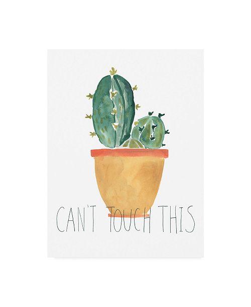 "Trademark Global June Erica Vess Punny Plant I Canvas Art - 36.5"" x 48"""