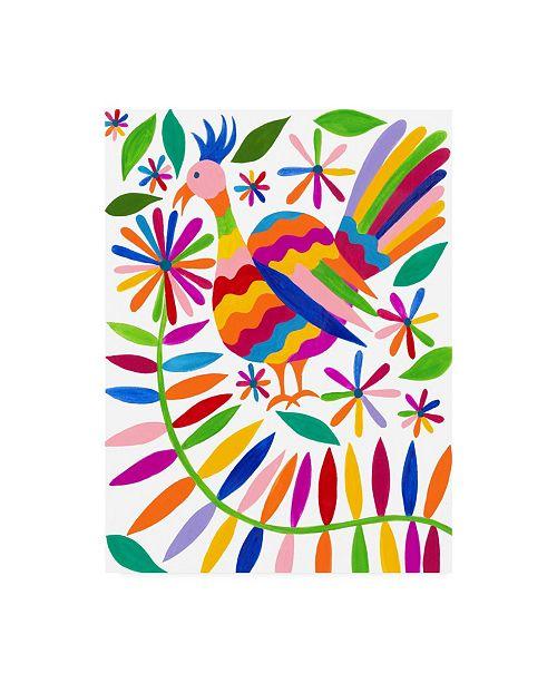 """Trademark Global Regina Moore Otomi Bird III Canvas Art - 19.5"""" x 26"""""""