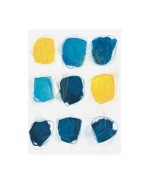 "Trademark Global June Erica Vess Lemon and Indigo I Canvas Art - 36.5"" x 48"""