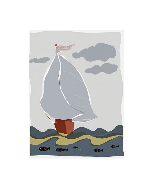 "Trademark Global Rob Delamater Oceans Ahoy III Canvas Art - 36.5"" x 48"""