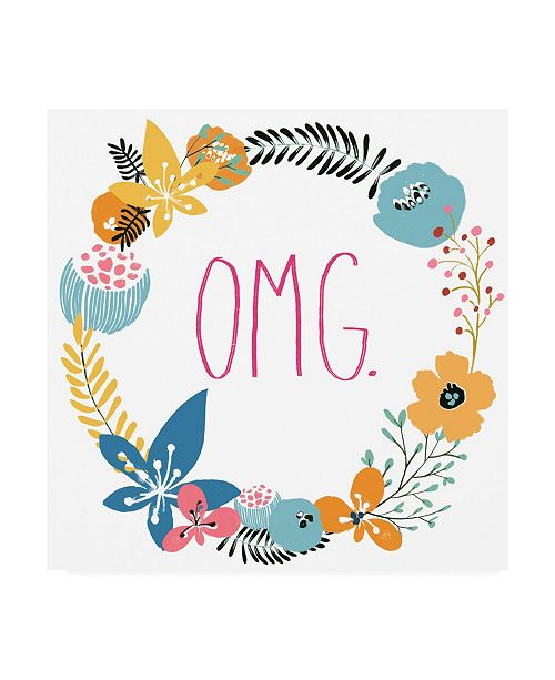 "Trademark Global June Erica Vess Floral Canvas Art - 15.5"" x 21"""
