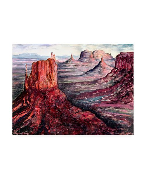 """Trademark Global Peter Potter Monument Valley Potter Canvas Art - 19.5"""" x 26"""""""