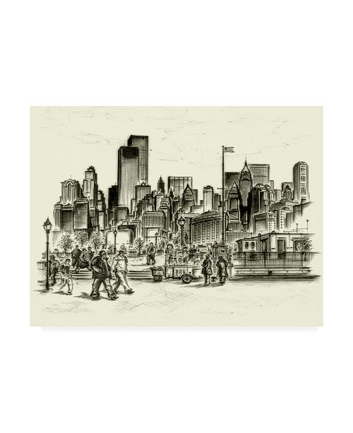 "Trademark Global Peter Potter New York Battery Park Canvas Art - 36.5"" x 48"""