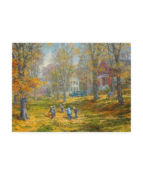 "Trademark Global Peter Snyder Autumn Dance Kids Ability Canvas Art - 19.5"" x 26"""