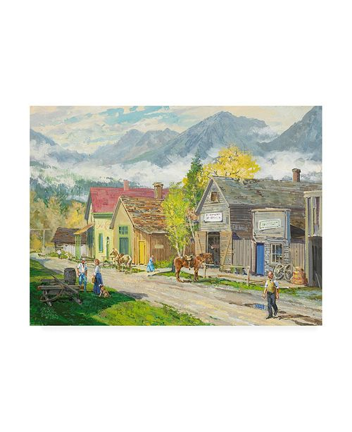 "Trademark Global Peter Snyder Low Clouds Fort Steele BC Canvas Art - 19.5"" x 26"""