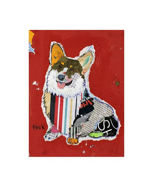 "Trademark Global Michel Keck Corgi Abstract Canvas Art - 15.5"" x 21"""
