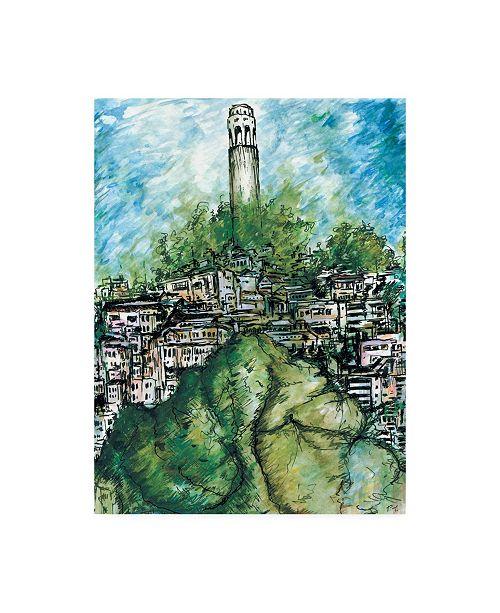 "Trademark Global Peter Potter San Francisco Coit Canvas Art - 15.5"" x 21"""