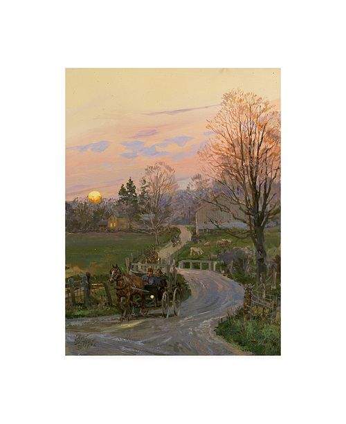 """Trademark Global Peter Snyder After the Barn Raising Canvas Art - 36.5"""" x 48"""""""